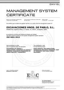 Certfificado Excavaciones Hermanos de Pablo - I