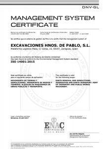 Certfificado Excavaciones Hermanos de Pablo - II